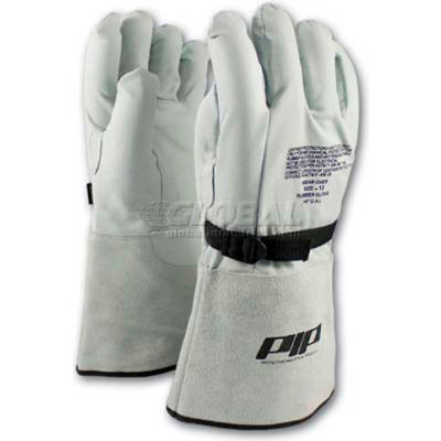 PIP Top Grain Goatskin Leather & Nylon Protector For Novax® Gloves, Orange & White, Size 9