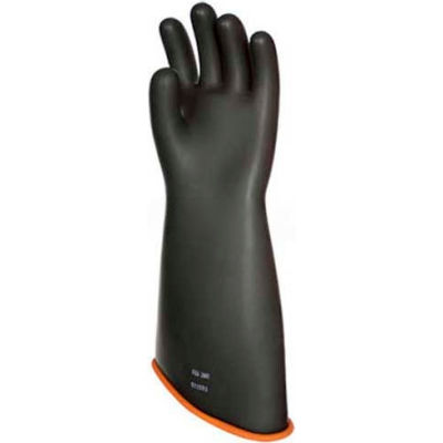 "PIP Electrical Rated Gloves, Class 3, Black Over Orange, 18"", Unlined, Size 12"