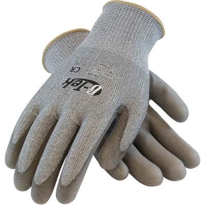 PIP G-Tek® CR Polyurethane Gray Grip Gloves W/ HPPE/Glass Liner, Gray Palm/Fingers, XL, 1 DZ