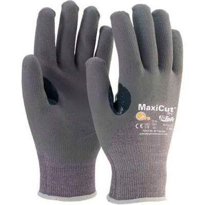 PIP MaxiGard™ Premium Gray Foam Nitrile Gloves, Over Knuckle Coated, Dyneema® Shell, XL