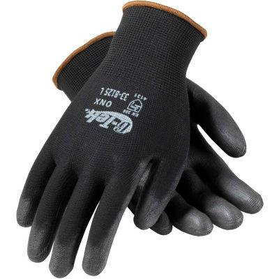 PIP® 33-B125/L G-Tek® GP™ General Duty Nylon Glove, Polyurethane Coated, Black, L