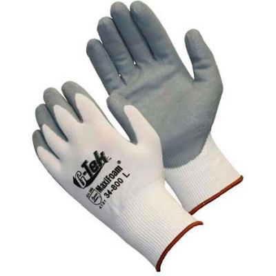PIP MaxiFoam® Foam Nitrile Coated Gloves, Gray, 1 Dozen, XS