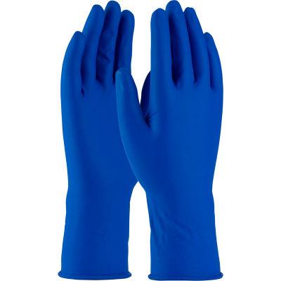 """PIP Ambi-Thix® 62-327PF Medical/Exam Latex Gloves, 11-1/2""""L, Powder-Free, Blue, M, 50/Box"""