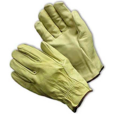 PIP Top Grain Cowhide Drivers Gloves, Straight Thumb, Economy Grade, L