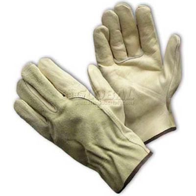 PIP Top Grain Cowhide Drivers Gloves, Keystone Thumb, Economy Grade, M