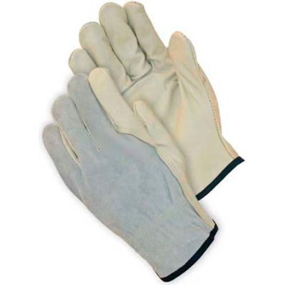 PIP Top Grain Cowhide Drivers Gloves W/Kevlar®, Grain Palm, Keystone, Regular Grade, XL
