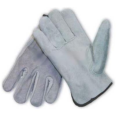 PIP Split Cowhide Drivers Gloves, Premium Grade, Keystone Thumb, Gray, L
