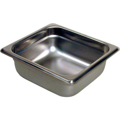 "Paragon 5062 - 1/6 Size Steam Table Pans, Anti-Jam, 24 Gauge, 2-1/2"" Deep"