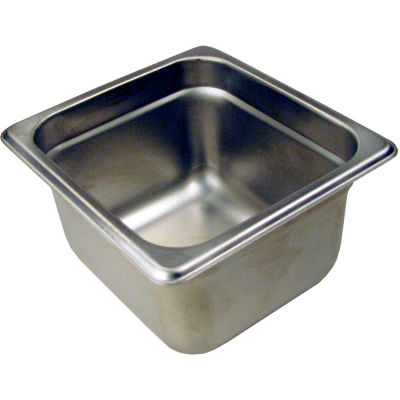 """Paragon 5064 - 1/6 Size Steam Table Pans, Anti-Jam, Stainless Steel, 24 Gauge, 4"""" Deep"""