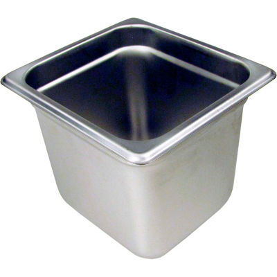 """Paragon 5066 - 1/6 Size Steam Table Pans, Anti-Jam, Stainless Steel, 24 Gauge, 6"""" Deep"""