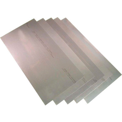 "Precision Brand 16968 0.031"" Steel Shim Stock 8"" x 12"" Flat Sheets (Pack of 5)"