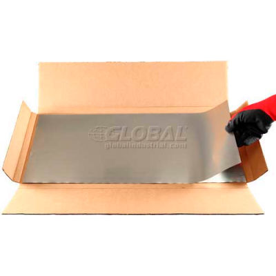 """Type 321 Stainless Steel Tool Wrap Sheet, 12"""" x 24"""" x 0.002"""" (Pack of 20)"""