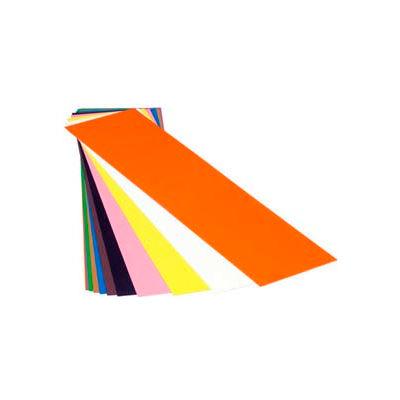 "0.001"" Amber, Plastic Color Coded Shim Stock, 5"" X 20"" Flat Sheet - Min Qty 11"