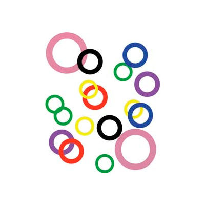 """1-1/2"""" I.D. x 2-1/8"""" O.D. x 0.025"""" Plastic Color Coded Arbor Shim (Pack of 10) - Made In USA"""