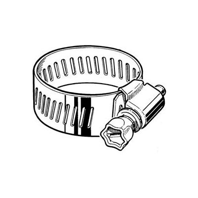 "CS44H Collared Screw Worm Gear Hose Clamp, 1-5/16"" - 3-1/4"" Clamping Dia. 10-Pack"