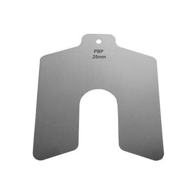 50mm x 50mm x 2mm Stainless Steel Metric Slotted Shim (Pack of 10) - Made In USA