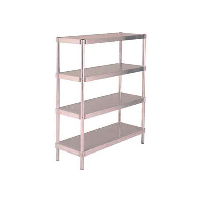"Prairie View A187260-5, Equipment Stands, 5-Shelf Shelving Unit, 18""W x 72""H x 60""L, Aluminum"