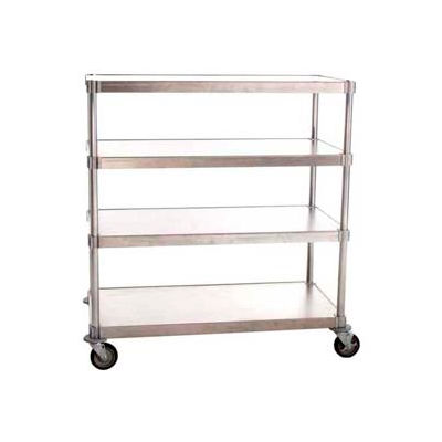 "Prairie View A206048-4-CHL2, Mobile Shelving Unit, 4-Shelf, 20""W x 66""H x 48""L, Aluminum"