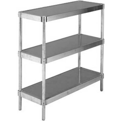 "Prairie View A244824-3, Equipment Stands, 3-Shelf Shelving Unit, 24""W x 48""H x 24""L, Aluminum"