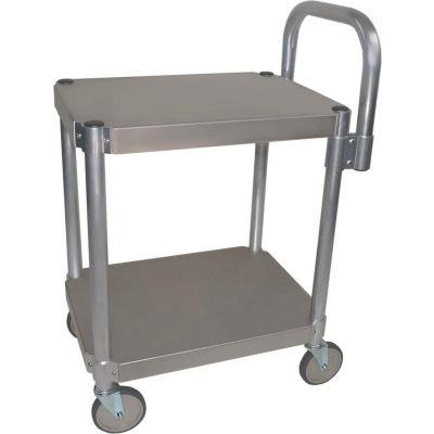 """Prairie View AUC2448, Utility Cart, 2-Shelf, 24""""W x 36""""H x 48""""D, Aluminum"""