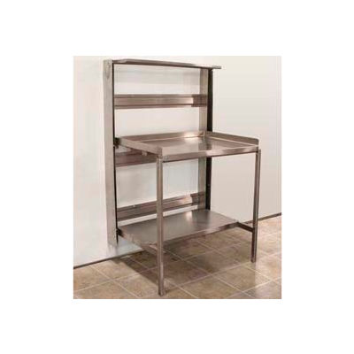 """Prairie View RTW246036, Stainless Steel Retractable Prep Station, 36""""W x 60""""H x 24""""D"""