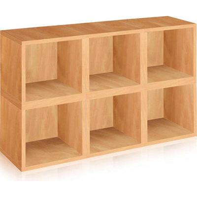 Way Basics Stackable Modular Storage 6 Cubes, Natural