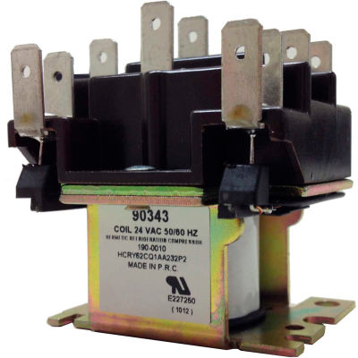 PSG 90343 DPDT General Purpose Relay 50/60 Hz Double Pole Coil 24VAC