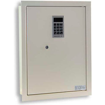 "Protex Electronic Wall Safe PWS-1814E - 14-1/8""W x 3-7/8""D x 18-1/4""H, Beige"