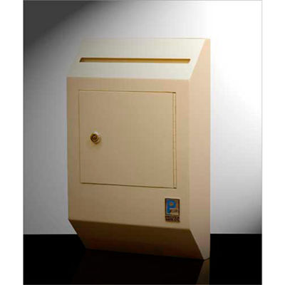 """Protex Letter Size Wall Depository Drop Box WDB-110 - 10""""W x 4""""D x 16-3/8""""H, Beige"""