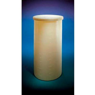 "Saint Gobain XLPE Heavyweight, 200 Gal., Cylindrical Tank w/Cover, 36""Dia. x 51""H, 1/4""Wall, Yellow"