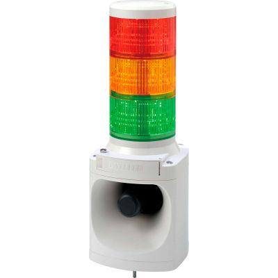 Patlite LKEH-302FEUL-RYG Smart Alert Plus LED Light & Horn, RYG Light, DC24V