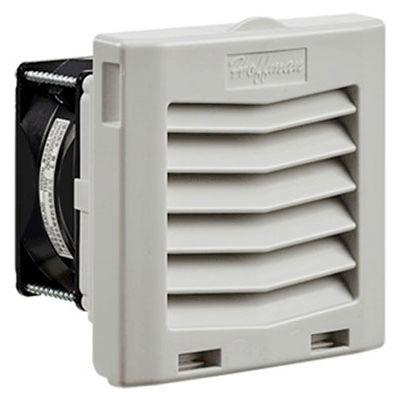 Hoffman HF Series 4 Inch Side-Mount Filter Fan for Enclosure, 21 CFM, 115V