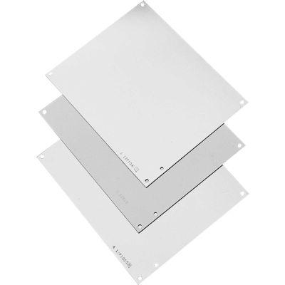 Hoffman A24P24 Panel, NEMA 12 / 21.00 x 21.00, Fits 24X 24, Steel/White