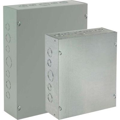 Hoffman ASE6X6X4, Pull Box, Screw Cover /Ko'S, 6.00X6.00X4.00, Steel/Gray