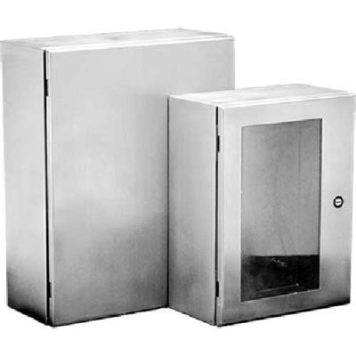 Hoffman CSD20206WSS, CONCEPT™ Wall Mt Encl W/Window, Type 4X, 20.00x20.00x6.00in, SS Type 304