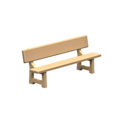 "Concrete Park Bench 84"" - Tan"