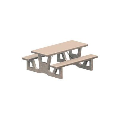"72"" Rectangular Concrete Table - Gray"