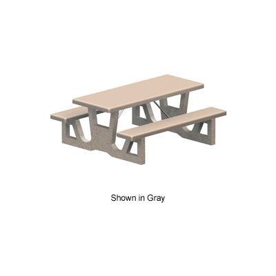 "72"" Rectangular Concrete Table - Tan"