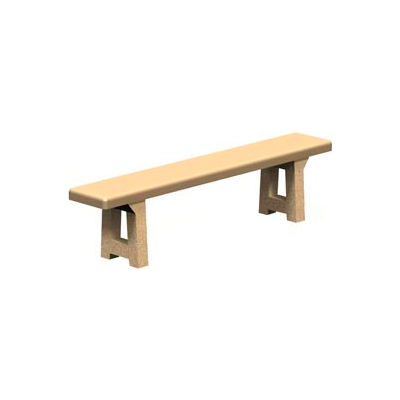 "Concrete Park Backless Bench - 72"" - Tan"