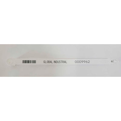 """Global Industrial™  Fixed Length Plastic Truck Seal  7.5"""" White, 60Lbs Pull Force, 100/Pack"""