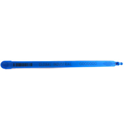 """Global Industrial™ Fixed Length Plastic Truck Seal, 7.5"""" Med Blue, 40 Lbs Pull Force, 100/Pack"""