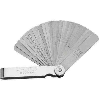 "Proto J000AA 25 Blade Master Feeler Gauge Set, 1/2"" x 3"" Blades"