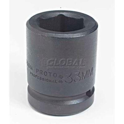 "Proto J10075M 1"" Drive Impact Socket 75mm - 6 Point, 3-27/32"" Long"