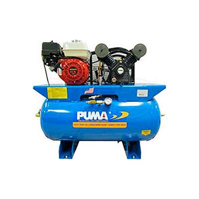 Puma PUK-5530HG, 5.5 HP, Stationary Gas Compressor, 30 Gallon, 135 PSI, 12 CFM, Honda, Recoil