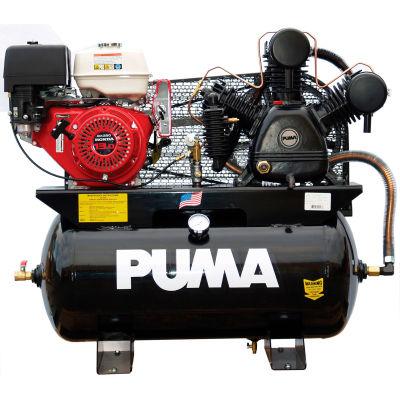 Puma TUK-13030HGE, 13HP, Stationary Gas Compressor, 30 Gal, 175 PSI, 24 CFM, Honda,  Electric/Recoil