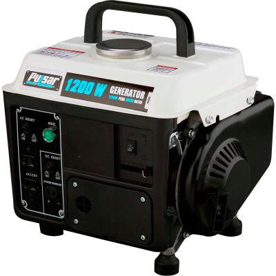 Pulsar PG1202S, 850 Watts, Portable Generator, Gasoline, Recoil Start, 120V