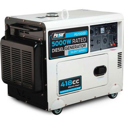 Pulsar PG7000D, 5000 Watts, Portable Generator, Diesel, Electric/Recoil Start, 120/240V