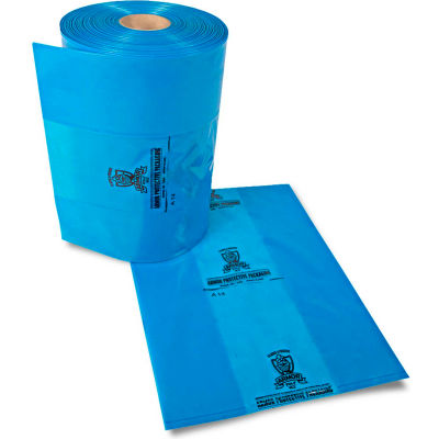 "Armor Poly® VCI Bags 50""W x 48""D x 80""H 2 Mil Blue 75 Sheets per Roll"