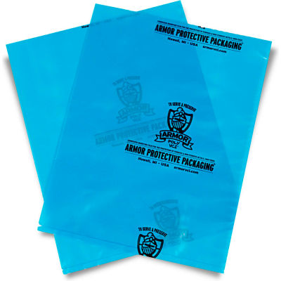 "Armor Poly® VCI Bags 12""W x 18""L 4 Mil Blue 500 Pack"