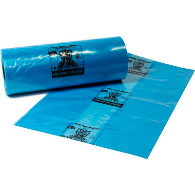 """Armor Defender® VCI Bags 34""""W x 33""""D x 65""""H 4 Mil Blue 50 Pack"""